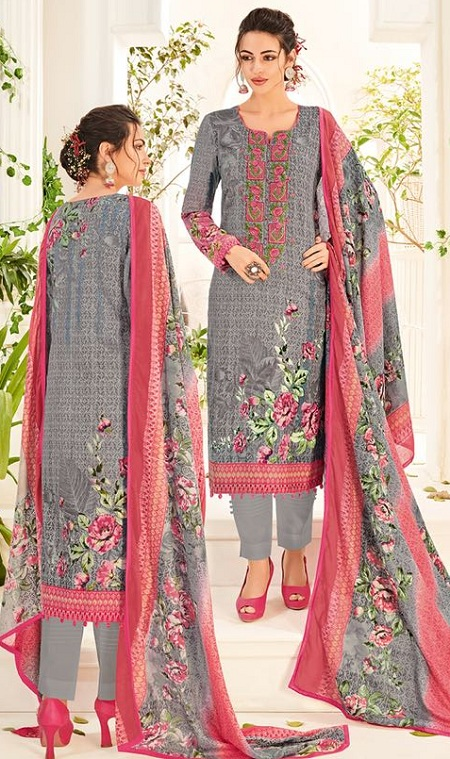 House Of Lawn Muslin Vol 12 Lawn Cotton Collection Karachi Salwar Suit Wholesale Catalog 10 Pcs (5) – Copy